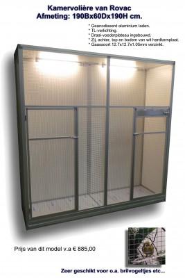 Rovac Kooienbouw en volièrebouw Winschoten (Groningen) ook voor maatwerk kamervolières (cages) (aviary)(22015)