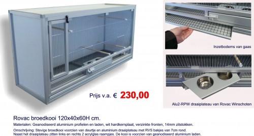 Rovac kooienbouw en volierebouw Winschoten (Groningen), ook voor broedkooien (zuchtboxen) (aviary, cages)