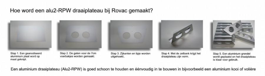 draaiplateau alu2 RPW maken Rovac modified
